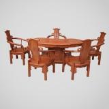 东阳歌意红木腰形茶桌缅甸花梨木家具厂家直销