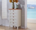 玫瑰金拉手 环保吸塑工艺双门双抽储物柜