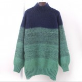 秋季新款韩版女士厚毛衣 地摊便宜服装女式套头毛衣