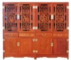 非洲黄花梨书柜|缅甸花梨书柜|刺猬紫檀书柜|红木古典四门书柜