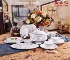 陶瓷餐具套装定制LOGO骨瓷礼品碗 盘 碟礼盒实用礼品批发