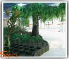 仿真柳树 人造大柳树玻璃钢树 舞台造景工艺树