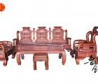 红木家具 中式实木沙发 花梨木 刺猬紫檀