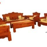 供应东阳红木家具厂家直销缅甸花梨木汉宫春晓沙发11件套
