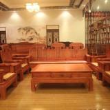 黄花梨 实木原木小靠背椅 休闲简约餐椅 红木家具