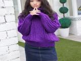 西安韩版秋季毛衣时尚潮流长袖圆领印花开衫毛衣厂家直销毛衣批发
