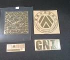电镀金属LOGO 纯镍金属logo制作 电铸五金标签 超薄金