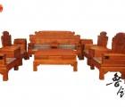 黄花梨木中式实木沙发客厅组合红木家具刺猬紫檀锦秀沙发红木