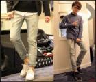 【男牛仔裤】一件代发男士修身牛仔裤韩版漂白水洗男破洞牛仔裤潮牌男牛仔裤
