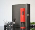 厂家直销 新品时尚高档礼品 红黑充电电动开瓶器五件套 可定制