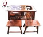 昆山天龙源厂家直销红木家具非洲刺猬紫檀茶桌茶几小茶桌东阳批发