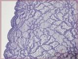 厂家直销淡紫色针织压花面料 蕾丝裙面料
