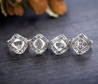 【民族手工】泰福银泰国直入民族手工银戒指清迈老银匠95纯银戒子戒指白银