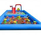 充气沙滩池玩具厂家 郑州圣童玩具充气水池生产厂家