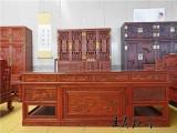 大果紫檀办公桌实拍图 拆房老料制作大果紫檀办公桌报价 图片