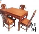 1.2米餐桌定做、鸡翅木家具、红木家具品牌、阔叶黄檀黑酸枝