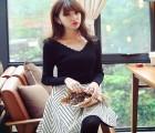 冬季韩版女装针织衫便宜批发厂家直销长袖针织打底连衣裙批发