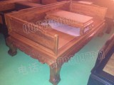 江门红木家具 非洲黄花梨 明清仿古全实木 明式餐台 7件套