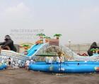 郑州卧龙儿童冲关设备 充气式游泳池 水上世界设备