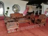 老挝大红酸枝客厅沙发,13件套大红酸枝客厅沙发