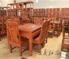 雕刻精品缅甸花梨餐桌质量上乘山东王义红木 精品上市