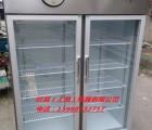 上海防爆双开玻璃门冷藏柜不锈钢外壳双门双温冷藏冷冻柜
