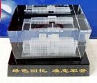 水晶内雕动车模型 中国西安高铁和谐号水晶模型摆件定做