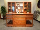 东阳红木厂家-红木书桌书柜-缅甸花梨木-办公家具-喜鹊报喜书