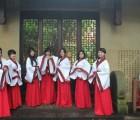 南宁红歌合唱服价格优惠码数齐全长裙舞台主持人礼服