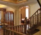 上海别墅楼梯水泥基础实木楼梯别墅榉木楼梯原木楼梯生产厂家楼梯