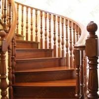 旧时代豪华楼梯豪华帝王柚木楼梯防虫室内柚木楼梯