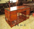 泰安缅甸花梨办公桌除湿一级棒缅花家具 王义缅花办公桌古色古香