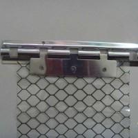 防静电隔离门帘防静电窗帘防静电隔离网格门