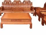 滨州豪华老挝大红酸枝餐桌  清式雕花  代代相传