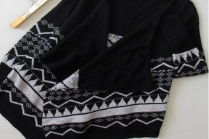 胸针赠送!新款正品圣仕莲半高领韩版打底针织套头衫