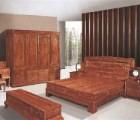万江红木大床 [鸿福堂古典红木家具]红木床_品质保证