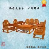 缅甸花梨沙发八件套 榫卯结构 泰安缅甸花梨沙发哪家好