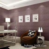 沙井无缝墙布 简约现代素色壁布客厅卧室书房PVC闪光欧式墙布
