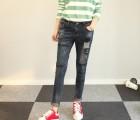 江西赣州哪里简约时尚铅笔裤批发厂家直销热销韩版女式牛仔裤