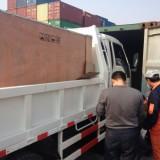 集装箱车队,以青岛港为中心,定时达全面展开