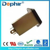 德菲尔带保险丝和开关通用型IEC插座式滤波器图片