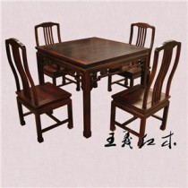 聊城豪华老挝大红酸枝餐桌  清式雕花  雍容华贵