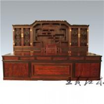 聊城乾韵老挝大红酸枝办公桌  古典韵味  匠心独造