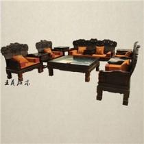 青岛与老挝大红酸枝沙发结缘  精细的花纹  突显华丽人生