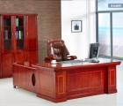 重庆老板办公桌实木办公桌油漆办公桌实木贴皮老板桌时尚大班台