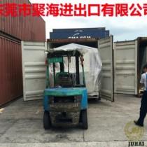 台湾二手机械设备进口玻璃镭射钻孔机海运报关清关货运代理