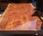 北京现货经典巴花大板黄花梨大板鸡翅木大板餐桌商务桌书桌