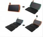 折叠太阳能充电宝 系列太阳能移动电源 户外应急带露营灯出口热