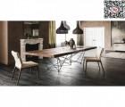 北欧餐桌餐椅书桌实木原木创意时尚别墅样板房高端桌椅设计师
