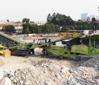 深圳市华威环保・时产250吨轮胎移动建筑垃圾处理系统